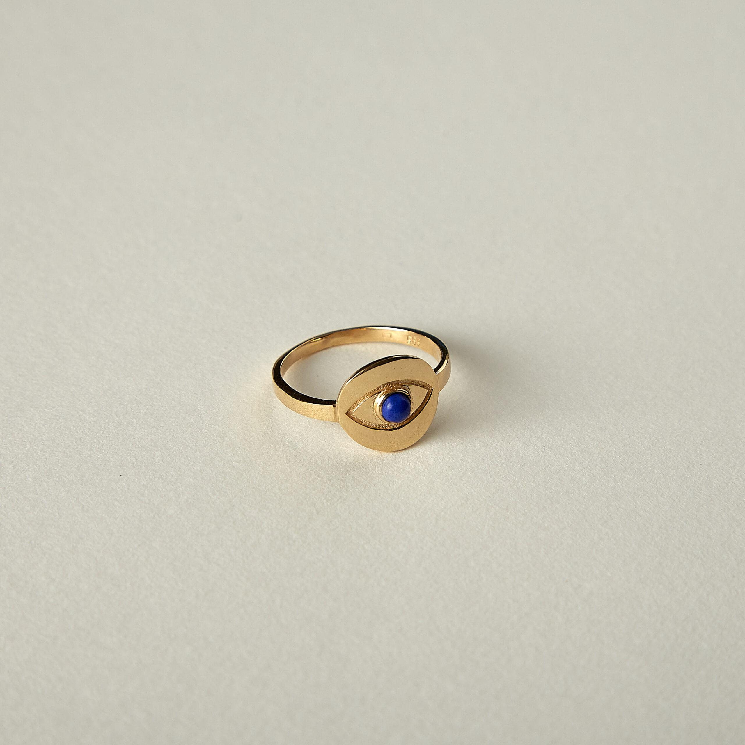 Inel din aur Blue Eye de la Lemons and Gin